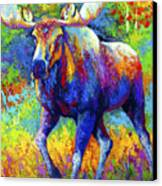 The Urge To Merge - Bull Moose Canvas Print by Marion Rose