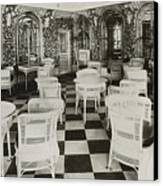 The Verandah Cafe Of The Titanic Canvas Print by Photo Researchers