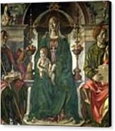 The Virgin And Saints Canvas Print