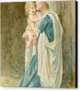 The Virgin Mary With Jesus Canvas Print by John Lawson