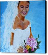 the wedding day of my daughter Daniela Canvas Print