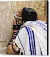The Western Wall, Jewish Man Wearing Canvas Print