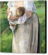 The Wet Nurse Canvas Print by Alfred Roll
