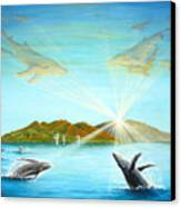 The Whales Of Maui Canvas Print