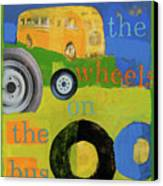 The Wheels On The Bus Canvas Print by Laurie Breen