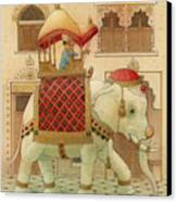 The White Elephant 01 Canvas Print by Kestutis Kasparavicius