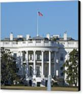 The White House - 1600 Pennsylvania Avenue Washington Dc Canvas Print by Brendan Reals