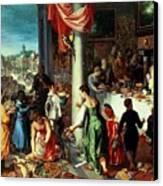 The Winter Feast Canvas Print by Hendrik van the Elder Balen