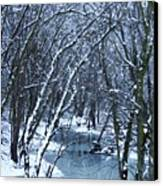 The Winter Stream  Canvas Print