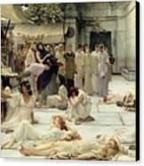 The Women Of Amphissa Canvas Print by Sir Lawrence Alma-Tadema