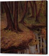The Woods Are Deep And Dark Canvas Print