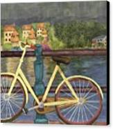 The Yellow Bicycle  Canvas Print