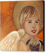 Thomas And Bentley Little Angel Of Friendship Canvas Print by The Art With A Heart By Charlotte Phillips