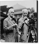 Thomas Edison 1847-1931 And George Canvas Print