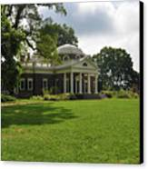 Thomas Jefferson's Monticello Canvas Print by Bill Cannon