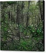 Thoreau Woods Fractal Canvas Print by Lawrence Christopher