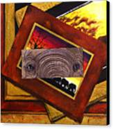 Those Eyes  Elephant  Safari Series Canvas Print