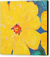 Three And A Half Flowers Canvas Print