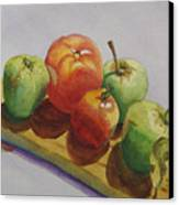 Three Apples Two Tomatoes Canvas Print