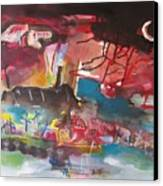 Three Arms10  Original Abstract Colorful Landscape Painting For Sale Red Blue Green Canvas Print