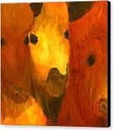 Three Bison Canvas Print