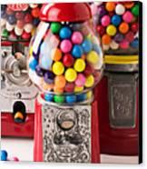 Three Bubble Gum Machines Canvas Print