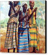 Three Joyful Girls Canvas Print