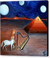 Three Moons Canvas Print by Pilar  Martinez-Byrne