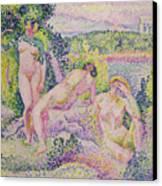Three Nudes Canvas Print by Henri Edmond Cross