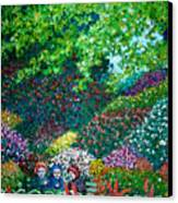 Three Old Ladies In The Park Canvas Print