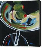 Three Olive Martini V  Canvas Print