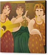 Three Women 2005 Canvas Print
