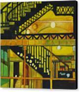 Through Parisian Glass Canvas Print