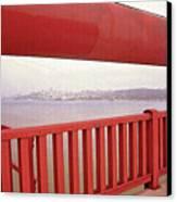 Through The Bridge View Of San Francisco Canvas Print by Steve Ohlsen