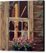 Through The Cabin Window Canvas Print by Lynda  Lawrence