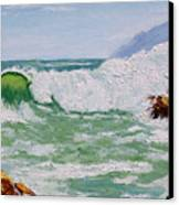 Thundering Surf Canvas Print