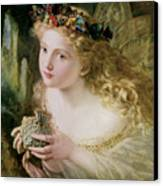 Thus Your Fairy's Made Of Most Beautiful Things Canvas Print by Sophie Anderson