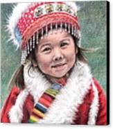 Tibetan Girl Canvas Print
