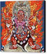 Tibetan Thangka  - Wrathful Deity Hayagriva Canvas Print