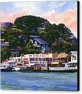 Tiburon California Waterfront Canvas Print