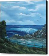 Tidal Eye Canvas Print by Cynthia Adams
