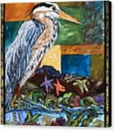 Tidepool Heron Canvas Print