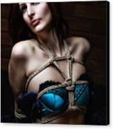 Tied In Lingerie - Bondage Fotoshooting Canvas Print
