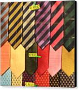 Ties In Shop Window In Venice Canvas Print