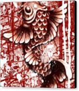 Tiffy Koi Canvas Print by Michael Figueroa
