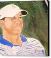 Tiger Canvas Print by Cathy Jourdan