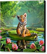 Tiger Lily Canvas Print by Jerry LoFaro