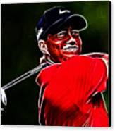 Tiger Woods Canvas Print by Paul Ward