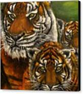 Tigers Family Oil Painting Canvas Print