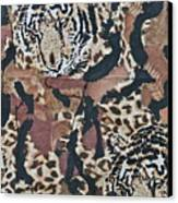 Tigers Tigers Burning Bright Canvas Print by Ruth Edward Anderson